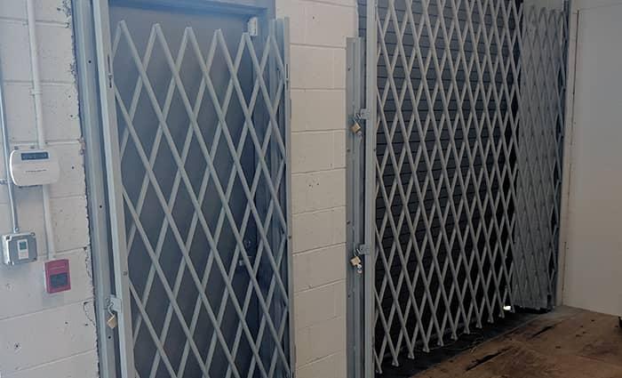 Bay Door Folding Scissor Gates